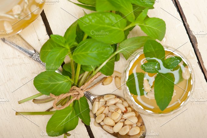 Arab middle east mint tea and pine nuts 013.jpg - Food & Drink