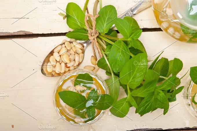 Arab middle east mint tea and pine nuts 017.jpg - Food & Drink