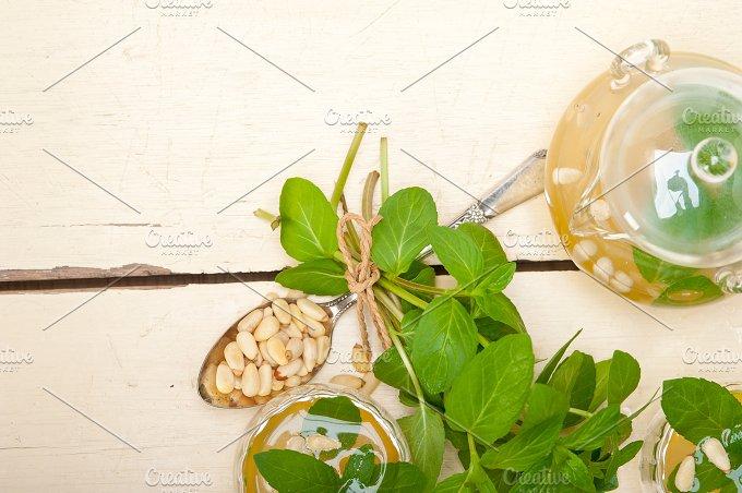 Arab middle east mint tea and pine nuts 019.jpg - Food & Drink