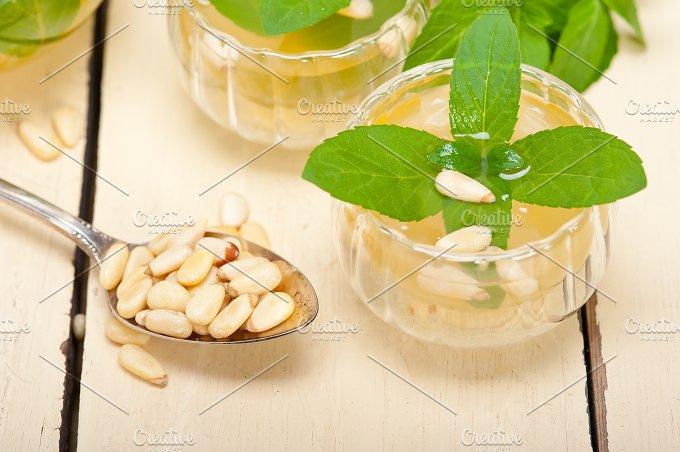 Arab Moroccan middle east mint tea and pine nuts 007.jpg - Food & Drink