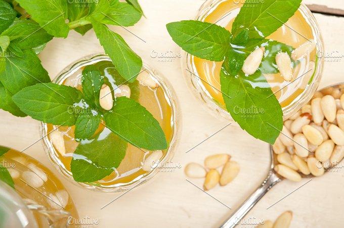 Arab Moroccan middle east mint tea and pine nuts 020.jpg - Food & Drink