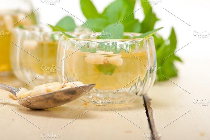 Arab Moroccan middle east mint tea and pine nuts 028.jpg - Food & Drink