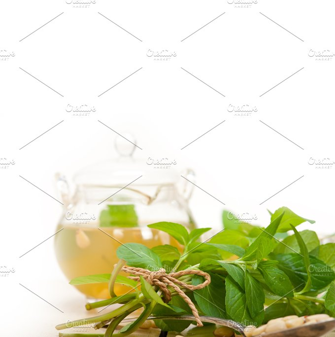 Arab Moroccan middle east mint tea and pine nuts 034.jpg - Food & Drink