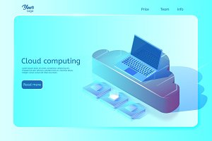 Cloud computing web page template