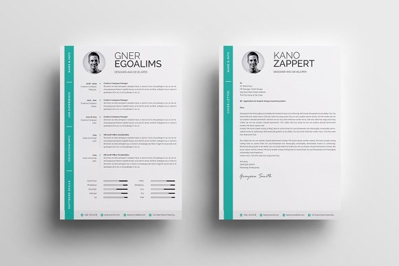 Modern Resume/CV Template in Resume Templates - product preview 1