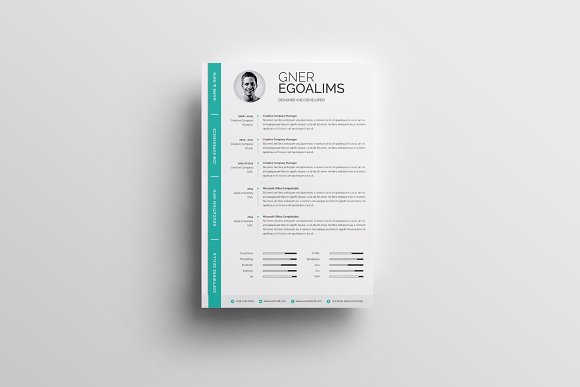 Modern Resume/CV Template in Resume Templates - product preview 2