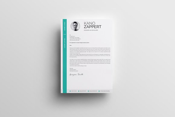 Modern Resume/CV Template in Resume Templates - product preview 3