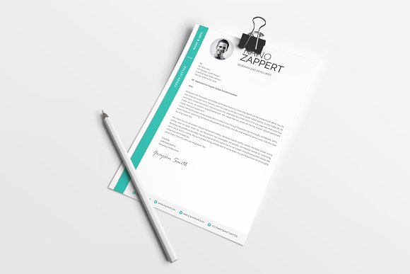 Modern Resume/CV Template in Resume Templates - product preview 4