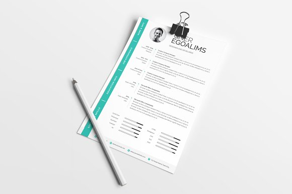 Modern Resume/CV Template in Resume Templates - product preview 5