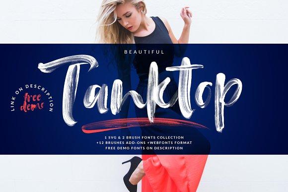 Tanktop SVG & Brush Fonts
