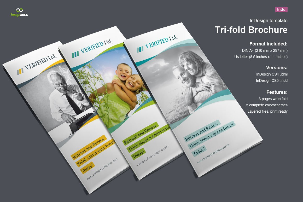 Business trifold brochure vol 3 brochure templates for Insurance brochure template