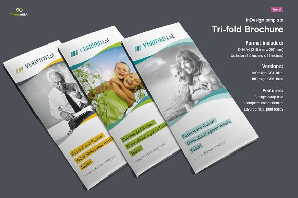 Business Trifold Brochure Vol Brochure Templates Creative Market - Tri fold brochure indesign template