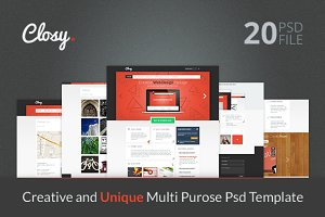 CLOSY. - Multi Purpose PSD Template