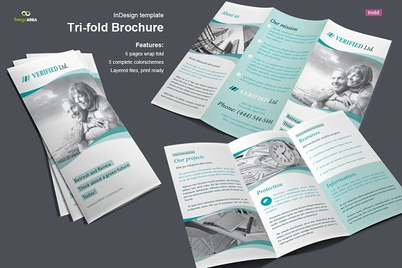 business trifold brochure vol 3 brochure templates creative market