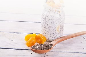 chia seeds with fruits