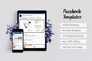 Rose Gold Facebook Templates
