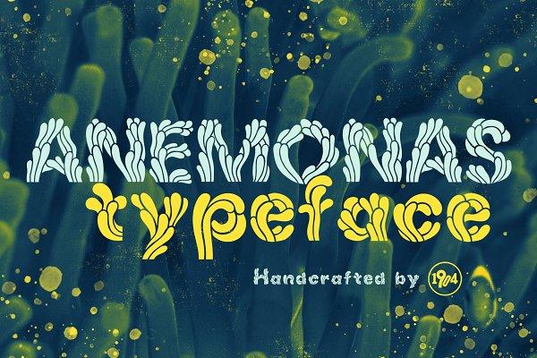 Best Anemonas Typeface Vector