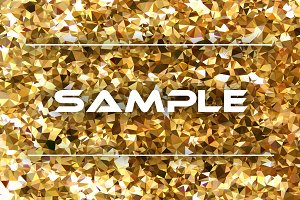 Golden geometric background
