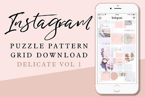 Instagram Puzzle Grid - Delicates