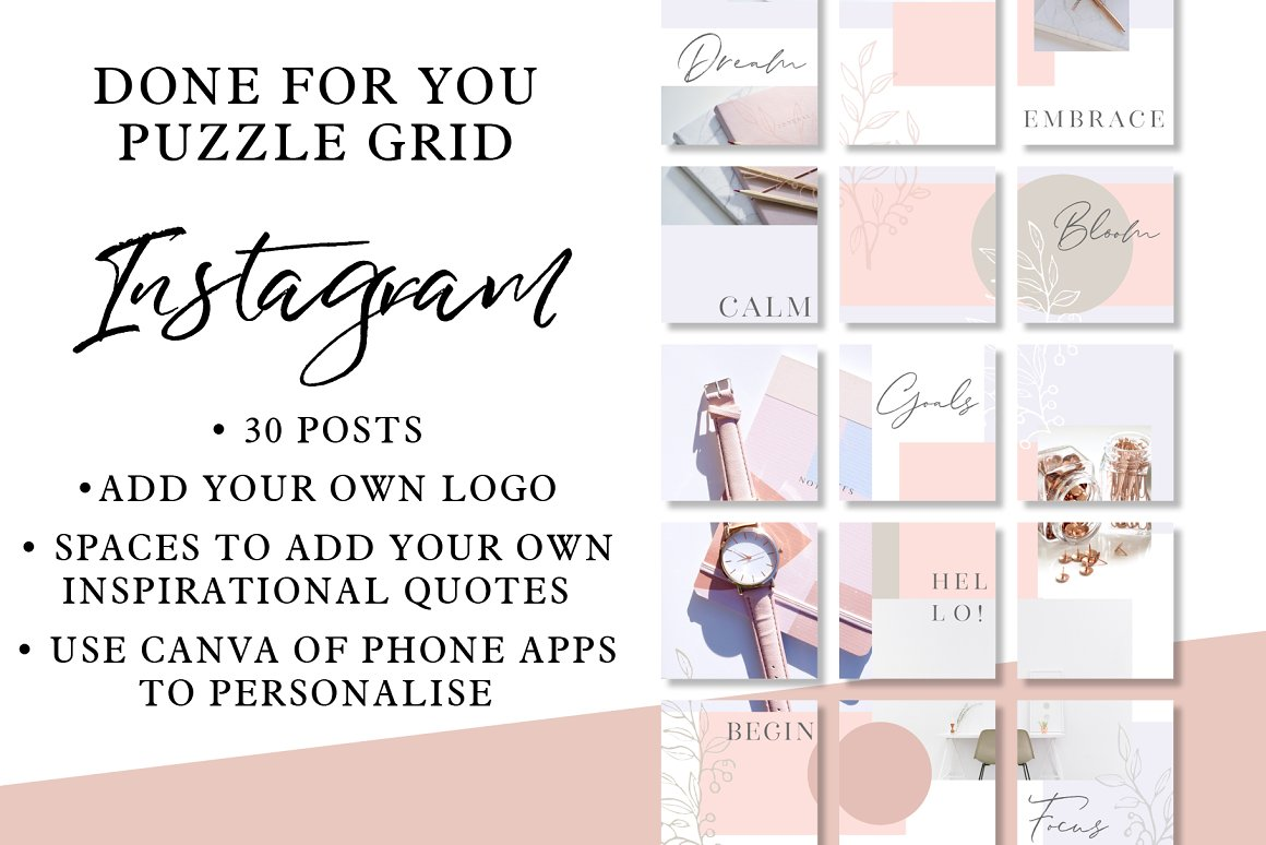 Instagram Puzzle Grid - Delicates