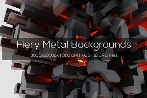 Fiery Metal Backgrounds
