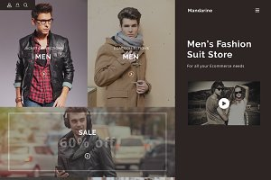 Sketch eCommerce Template Mandarine