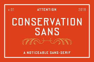 Conservation Sans Family