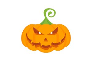 Halloween party pumpkin character