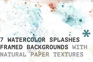 Watercolor light Splashes textures