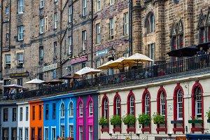 Busy Streets of Edinburgh, Scotland,