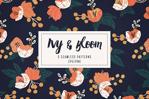 Ivy & Bloom - Seamless Patterns