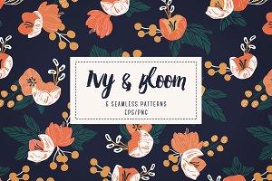 Ivy & Bloom - Seamless Patterns