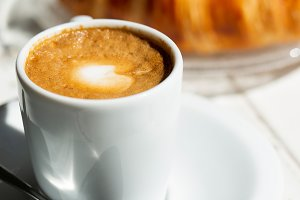 Espresso coffee breakfast