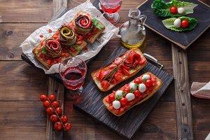 Bruschetta with tomato and