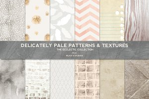 Delicately Pale Patterns & Textures