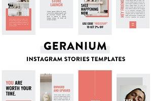 Geranium Instagram Stories Template