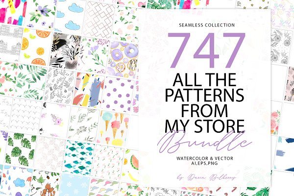 Graphics: Daria Bilberry - 747 PATTERN BUNDLE