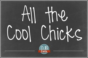 DJB All the Cool Chicks Font