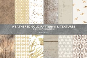 Weathered Gold Patterns & Textures