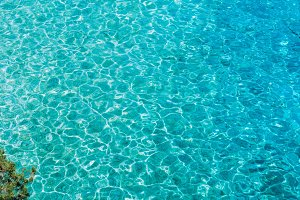 Blue turquoise ripple water in