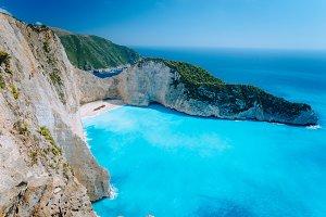 Navagio beach Zakynthos. Shipwreck