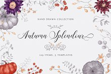 Autumn Splendour - hand drawn set by  in Objects