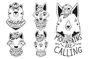9 Mountains are calling animal set