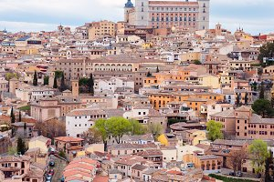Toledo, Spain old town cityscape at