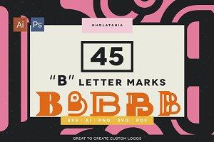 """COOL! 45 """"B"""" marks for custom logos"""