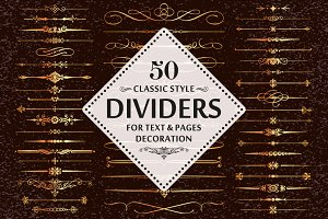 50 Vector Divider Design Elements