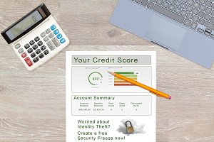 Credit report and lock or freeze