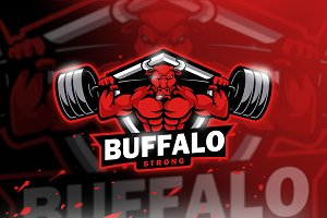 Buffalo Strong|Mascot & Esport Logo