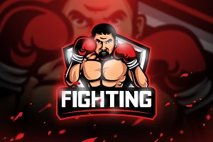 Fighting - Mascot & Esport Logo