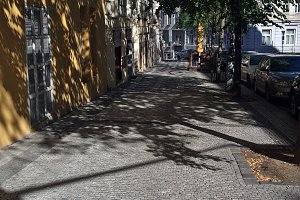 A paved sidewalk